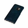 Bouletta Ultimate Jacket Samsung Galaxy S9 VS6 Mavi Gerçek Deri Kılıf - Resim 2