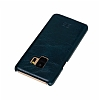 Bouletta Ultimate Jacket Samsung Galaxy S9 VS6 Mavi Gerçek Deri Kılıf - Resim 4