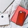 Bouletta Ultra Cover iPhone 7 / 8 V4EF Kırmızı Gerçek Deri Kılıf - Resim 1