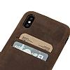 Bouletta Ultra Cover iPhone X / XS G2 Kahverengi Gerçek Deri Kılıf - Resim 2