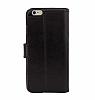 Bouletta Wallet ID iPhone 6 / 6S Standlı Kapaklı Siyah Gerçek Deri Kılıf - Resim 4