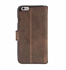 Bouletta Wallet ID iPhone 6 / 6S Standlı Kapaklı Kahverengi Gerçek Deri Kılıf - Resim 3