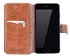 Bouletta Wallet ID iPhone 6 Plus / 6S Plus Standlı Kapaklı Açık Kahverengi Gerçek Deri Kılıf - Resim 2