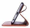 Bouletta Wallet ID iPhone 6 Plus / 6S Plus Standlı Kapaklı Kahverengi Gerçek Deri Kılıf - Resim 1