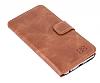 Bouletta Wallet ID iPhone 6 Plus / 6S Plus Standlı Kapaklı Açık Kahverengi Gerçek Deri Kılıf - Resim 4