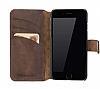 Bouletta Wallet ID iPhone 6 Plus / 6S Plus Standlı Kapaklı Kahverengi Gerçek Deri Kılıf - Resim 5