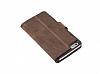 Bouletta Wallet ID iPhone 6 Plus / 6S Plus Standlı Kapaklı Kahverengi Gerçek Deri Kılıf - Resim 3