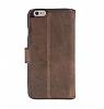 Bouletta Wallet ID iPhone 6 Plus / 6S Plus Standlı Kapaklı Kahverengi Gerçek Deri Kılıf - Resim 2