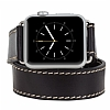 Burkley Apple Watch / Watch 2 Çift Tur Rustic Black Gerçek Deri Kordon (42 mm) - Resim: 3