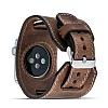 Burkley Apple Watch CUFF G2 Kahverengi Gerçek Deri Kordon (38 mm) - Resim 4