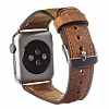 Burkley Apple Watch G8 Kahverengi Gerçek Deri Kordon (42 mm) - Resim 3