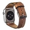 Burkley Apple Watch G8 Kahverengi Gerçek Deri Kordon (38 mm) - Resim 3