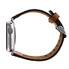 Burkley Apple Watch G8 Kahverengi Gerçek Deri Kordon (38 mm) - Resim 2