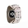 Burkley Apple Watch Pembe Gerçek Deri Kordon (38 mm) - Resim 3