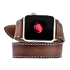Burkley Apple Watch RST2 Kahverengi Gerçek Deri Kordon (42 mm) - Resim 1