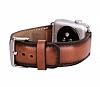 Burkley Apple Watch RST2EF Kahverengi Gerçek Deri Kordon (42 mm) - Resim 1