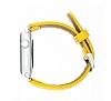 Burkley Apple Watch Sarı Gerçek Deri Kordon (42 mm) - Resim 1