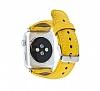 Burkley Apple Watch Sarı Gerçek Deri Kordon (42 mm) - Resim 2