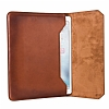 Burkley Cover Vintage Bag Apple iPad Pro 12.9 Special Burned Tan Gerçek Deri Kılıf - Resim: 1