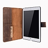 Burkley Cover Wallet Folio Apple iPad Pro 9.7 Antique Coffee Gerçek Deri Kılıf - Resim: 3