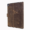 Burkley Cover Wallet Folio Apple iPad Pro 9.7 Antique Coffee Gerçek Deri Kılıf - Resim: 2