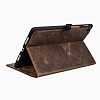 Burkley Cover Wallet Folio Apple iPad Pro 9.7 Antique Coffee Gerçek Deri Kılıf - Resim: 1