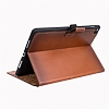 Burkley Cover Wallet Folio Apple iPad Pro 9.7 Special Burned Tan Gerçek Deri Kılıf - Resim: 1