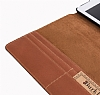 Burkley Cover Wallet Folio Apple iPad Pro 9.7 Special Burned Tan Gerçek Deri Kılıf - Resim: 4