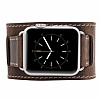 Burkley Cuff Apple Watch Antique Coffee Ger�ek Deri Kordon (42 mm) - Resim: 4