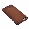 Burkley Snap On iPhone 6 / 6S Gerçek Deri Dark Brown Rubber Kılıf - Resim: 7