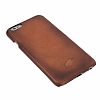 Burkley Snap On iPhone 6 / 6S Gerçek Deri Dark Brown Rubber Kılıf - Resim: 6