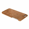 Burkley Snap-on iPhone 6 Plus / 6S Plus Gerçek Deri Antique Camel Rubber Kılıf - Resim: 3