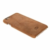 Burkley Snap-on iPhone 6 Plus / 6S Plus Gerçek Deri Antique Camel Rubber Kılıf - Resim: 4