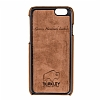 Burkley Snap-on iPhone 6 Plus / 6S Plus Gerçek Deri Antique Camel Rubber Kılıf - Resim: 2