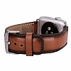 Burkley Padded Watch Genuine Apple Watch Burnished Tan Gerçek Deri Kordon (42 mm) - Resim: 1