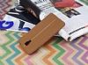 Casper Via A1 Plus Kadife Dokulu Kahverengi Silikon Kılıf - Resim 1