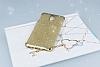 Casper Via A1 Plus Simli Gold Silikon Kılıf - Resim 1