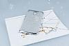 Casper Via A1 Plus Simli Silver Silikon Kılıf - Resim 1