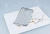 Casper Via A1 Simli Silver Silikon Kılıf - Resim 1