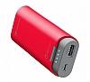 Cellular Line 5200 mAh 2017 Powerbank Kırmızı Yedek Batarya - Resim 1