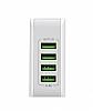 Cortrea High Power Yüksek Kapasiteli 4 USB Port Çoklu Ev Şarj Adaptörü - Resim 3