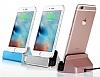 Cortrea iPhone 7 / 8 Lightning Masaüstü Dock Siyah Şarj Aleti - Resim 4