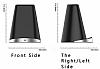 Cortrea Kalemlikli Kablosuz Siyah Hızlı Şarj Standı - Resim 3