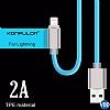 Cortrea Karanlıkta Parlayan Mavi Lightning Data Kablosu 1m - Resim 3