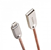 Cortrea Kucipa Lightning & Micro USB Rose Gold Metal Data Kablosu 1m - Resim: 1
