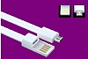 Cortrea Micro USB Bileklik Gri Kısa Data Kablosu 21cm - Resim 7