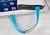 Cortrea Micro USB Bileklik Gri Kısa Data Kablosu 21cm - Resim 9