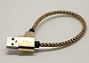 Eiroo Micro USB Dayanıklı Halat Gold Kısa Data Kablosu 22cm - Resim 2