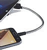 Cortrea Micro USB Katlanabilir Metal Kısa Data Kablosu 14cm - Resim 1