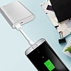 Cortrea Micro USB Gri Kısa Data Kablosu 9cm - Resim 5